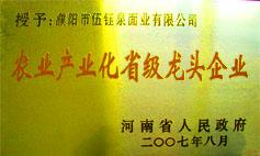 农业产业化省级龙头企业